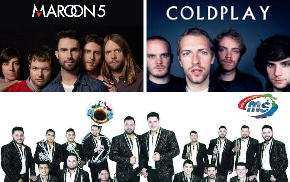 Banda MS de los mas vistos en YouTube, junto a Coldplay y Maroon 5